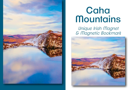 Caha Mountains - Mullinhassig Waterfall - Bookmark & Magnet Set