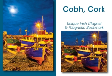 Cobh Waterfront - Mullinhassig Waterfall - Bookmark & Magnet Set
