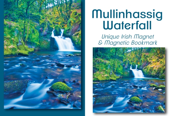 Mullinhassig Waterfall - Bookmark & Magnet Set