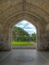 One of the Beautiful Arches of the UCC quad, with the UCC emblem in the foreground. This amazing gothic arch has some really beautiful stone work. This image contains 21 images