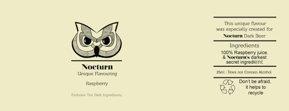 Nocturn Raspberry Flavouring Label