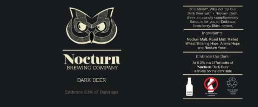 Nocturn Dark beer Label