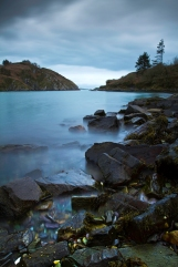 This wintery image taken in November at the gateway to Lough Hyne, from the rocks of Barloge cove, West Cork, was captured in late evening as a storm brewing on the Atlantic started to roll in